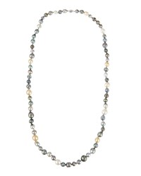 Belpearl Long Tahitian And South Sea Pearl Necklace