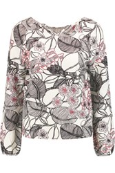 Giambattista Valli Printed Wool And Cashmere Blend Sweater White