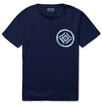 Blue Blue Japan Printed Cotton Jersey T Shirt Blue