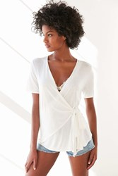 Kimchi And Blue Kimchi Blue Lucy Side Tie Top Ivory