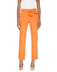 Red Valentino Bow Waist Cropped Pants Orange