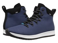 Native Apollo Apex Regatta Blue Shell White Jiffy Rubber Lace Up Boots Navy