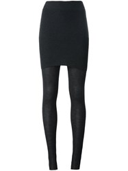 Dolce And Gabbana Layered Leggings Grey