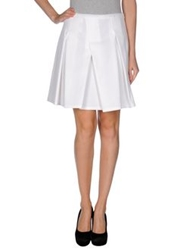 Jil Sander Navy Mini Skirts White