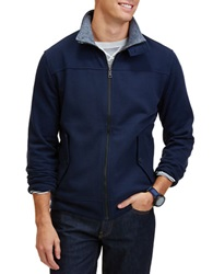 Nautica Sueded Fleece Track Jacket Navy