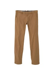 Mango Men's Slim Fit Cotton Chinos Yellow