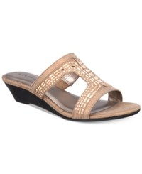 Karen Scott Seryne Demi Wedge Sandals Only At Macy's Women's Shoes Champagne