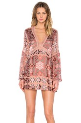 For Love And Lemons Juliet A Line Dress Pink