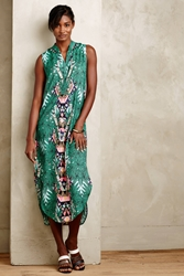 Mara Hoffman Tasmene Shirtdress Green Motif