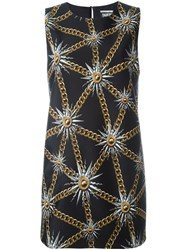Fausto Puglisi Sun And Chain Print Dress Black