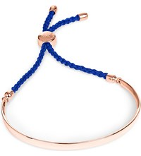 Monica Vinader Fiji 18Ct Rose Gold Plated Friendship Bracelet Rose Royal Blue