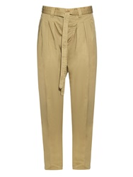 Visvim Relaxed Cotton And Linen Blend Trousers