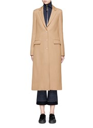 Acne Studios 'Avra' Twill Tailored Long Coat Brown