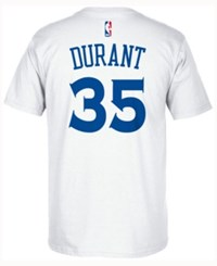 Adidas Men's Kevin Durant Golden State Warriors Player T Shirt White