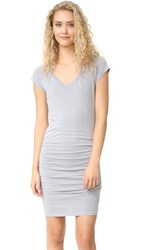 Sundry V Neck Dress Pigment Grey