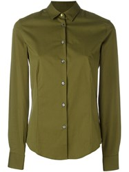 Paul Smith Ps By Classic Printed Cuff Shirt Green
