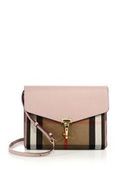 Burberry Macken Small Leather And House Check Canvas Crossbody Bag