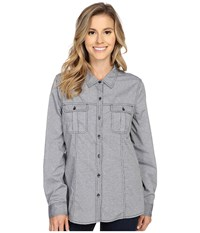 Royal Robbins Diablo Camp Shirt Jet Black Women's Long Sleeve Button Up