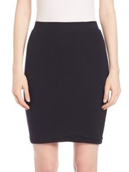 Atm Anthony Thomas Melillo Solid Fitted Skirt Black