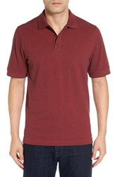 Nordstrom Men's Big And Tall Men's Shop Tipped Oxford Pique Polo Red Rosewood