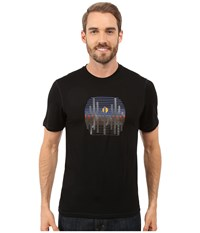 Smartwool Nts Micro 150 Tee Charley Harper National Park Poster Cactus Black Men's Short Sleeve Pullover