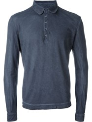 Massimo Alba Longsleeved Polo Shirt Grey