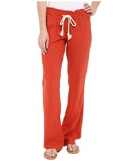 Roxy Ocean Side Pant Chili Women's Casual Pants Brown