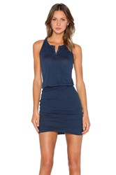 Stateside Crepe Ruched Mini Dress Navy