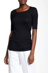 Atm Anthony Thomas Melillo Elbow Length Sleeve Tee Black