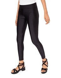 Miss Selfridge High Waisted Shiny Leggings Black