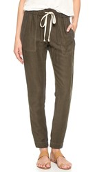 Enza Costa Easy Linen Pants Black Olive