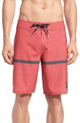 Men's Quiksilver Stripe Scallop Board Shorts Stripe Scallop Red