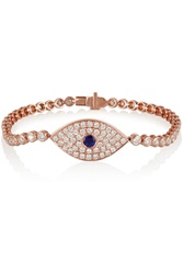 Anita Ko Evil Eye 18 Karat Rose Gold Diamond And Sapphire Bracelet