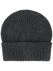 Dolce And Gabbana Ribbed Beanie Grey
