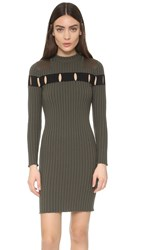 Alexander Wang Perforated Stripe Crew Neck Dress Tank