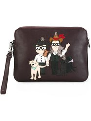 Dolce And Gabbana Designers Patch Clutch Red