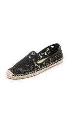 Soludos Tulip Lace Smoking Slipper Espadrilles Black