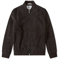 Norse Projects Hak Suede Jacket Black
