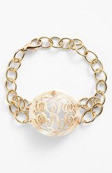 Women's Moon And Lola 'Annabel' Medium Oval Personalized Monogram Bracelet Nordstrom Exclusive