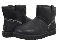 Ugg Classic Mini Stitch Black Leather Men's Pull On Boots