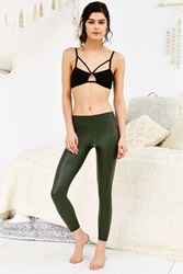 Out From Under Matte Vegan Leather Legging Green