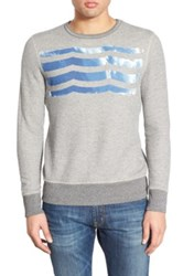 Sol Angeles 'Las Olas' Graphic Pullover Sweatshirt Gray
