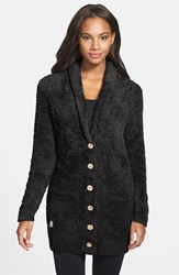 Women's Barefoot Dreams Cozychic 'Relaxed' Cardigan Midnight