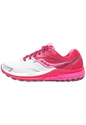 Saucony Ride 9 Neutral Running Shoes White Berry Pink