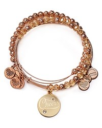 Alex And Ani Cheers Color Infusion Expandable Wire Bangles Set Of 3 Champagne