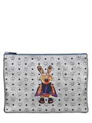 Mcm Rabbit Metallic Faux Leather Bag