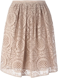 Burberry London Layered Lace Skirt