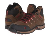 Wolverine Edge Lx Epx Waterproof Carbonmax Brown Red Men's Work Lace Up Boots