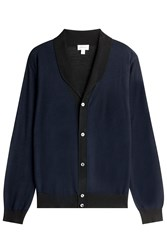 Brioni Cardigan With Wool Cashmere And Silk Blue