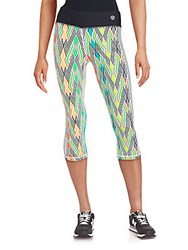 Trina Turk Recreation Printed Capri Leggings Neon Lights